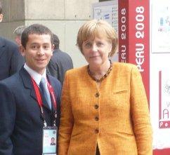 Mi foto con la Merkel